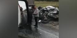 5 автомобилей столкнулись на автодороге «Белово — Коновалово — Прокопьевск»